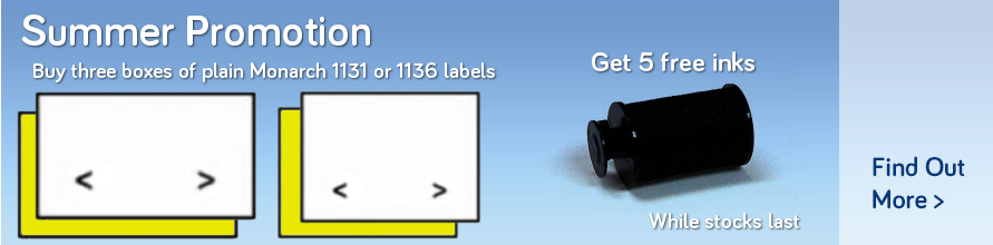 Buy three packs of monarch 1131 or 1136 labels and get 5 free inks