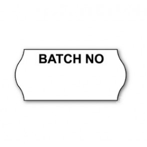 CT4 Printed 'Batch No' Price Gun Labels Permanent 26 x 12mm (15K/10 reels or 45K/30 reels)