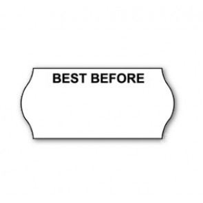 CT4 Printed 'Best Before' Price Gun Labels Permanent 26 x 12mm (15K/10 Reels or 45k/30 Reels)