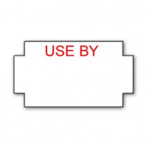 Genuine Sato/Nor 2/9 & 3/9 B White printed red 'Use By' Labels Freeze 25 x 14mm 15K/12 reels or 45K/36 reels