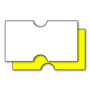 CT1 22x12mm Punch Hole White or Yellow Price Gun Label (15k/15 reels or 50k/50 reels)