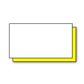 CT4 Rectangular White/Yellow Price Gun Labels 26x12mm (15k/10 reels)